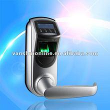fingerprint scanner handle lock access control system/mechanical keys/hotel/office/house used (L7000)