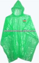 Green Plastic Rain Poncho
