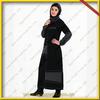 Chic abaya maxi dress dubai with jersey scarf collar KDT-177