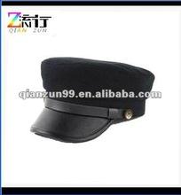 2012 latest design leather men military cap
