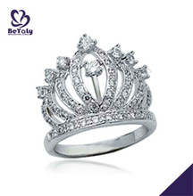 2013+Queen's crown Wedding band 925 sterling Silver ring