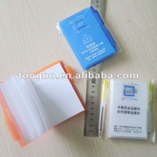 school or promotion supply school PP cover mini note book with pen