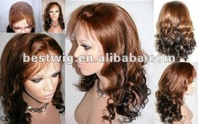 18inch deep wave full lace wigs two tone