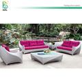 modern estilo fasion nova de alta qualidade ao ar livre do sofá do rattan conjunto