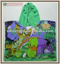 2012 new design baby hooded beach towel