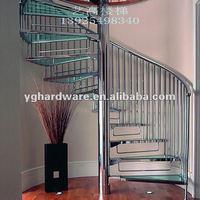Modern glass stairway 9002-4