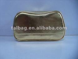Fashion design metallic PU leather cosmetic bag