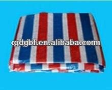 waterproof and fire retardant stripe pe tarpaulin