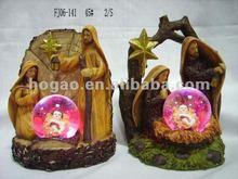 Christmas glass animal snow globe with LED light