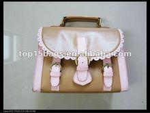fashion ladys messenger handbag with flower trim