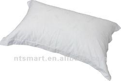 White cotton satin jacquard hotel pillow case