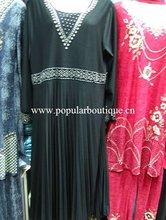 C348 Latest women beaded embroided Muslim abaya/traditional wear
