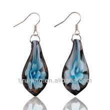 glass earring,tear earring dangle