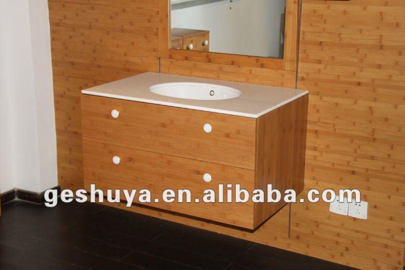 Lb-jx2002 sıcak tasarım bambu banyo dolap