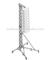 Speaker tower , aluminum array line speaker hanger truss system