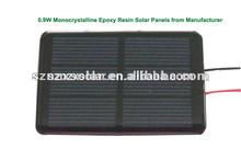 0.9W Monocrystalline Epoxy Resin Solar Panels from Manufacturer