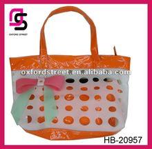 2012 new fashion PU handbag with orange hole