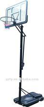 Portable height adjustable basketball stand