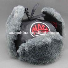 Bomber hat with faux fur earflap, combat hat