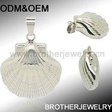 2013 stylish silver shell charm