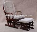 Tf04t-7 antique rocking chair com otomano