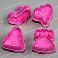 Kunststoff 4 stück rosa kleid& Schuhe Thema messersatz