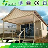 prefab beach light steel prefabricated villa