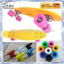 2012 fish skateboard fish board penny nickel 22''&27''skateboard-BLACK DECK/RED WHEELS(CE Approved)