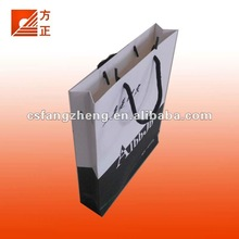 White New printed Paper Bag for clothes ,fashion bags for 2012