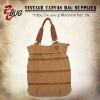 2012 Vintage Design Cotton Canvas Handbag/Backpack/Travel Bag With PU Leather For Men/Women