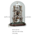 Europe style brass classic skeleton table craft clock