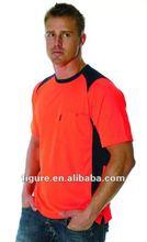 Uomini hi vis t- shirt 180g/sm cotone- cerchiato rapido- poliestere secco