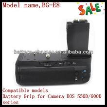 Battery Grip for Canon EOS 550D 600D Rebel T2i T3i BG-E8