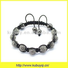 Alloy Crystal Beads Sham-balla Bracelets For Mens SB-130
