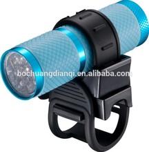 9LED high power beam rubber and aluminium bicycle light led bike light