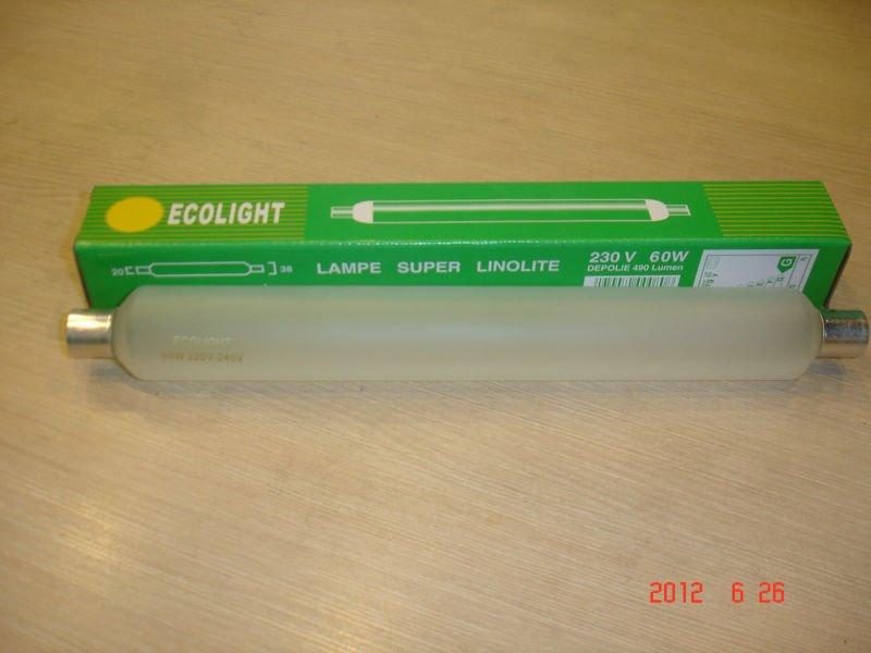 Populaire vente! 2015 230 V 40 W 60 W longue durée de vie S19 LINOLITE à incandescence ampoule de la lampe du cabinet