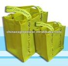 yellow Non-woven fabric pretty Wine Gift Bag