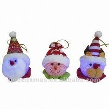 Light up santa snowman bear head indoor christmas decoration