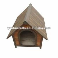 Modern wooden dog house