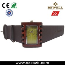 100%nature BEWELL wooden watch,unique design big case/band leading the fashion trend