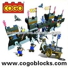 COGO Castte War series solid abs plastic blocks