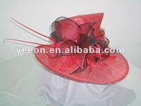 2013 new fashion sinamay hat