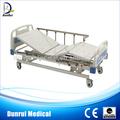 Ce, iso aprovado manual 3 peças manivelas cama de hospital móvel