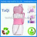 La botella de agua plástica 800ml BPA del deporte libera con la paja