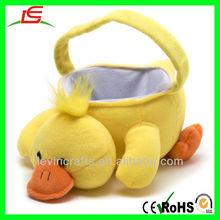LE D143 Easter Basket, Plush Animal Easter Basket