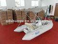 Ce 3.3m consola central de fibra de vidrio pequeño barco de pesca con parasol
