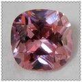 venda quente de fábrica brilhante cor de rosa de corte quadrado cubic zirconia pedras