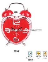 2015 hot selling Loving heart shape romantic Desk Clock(2856).