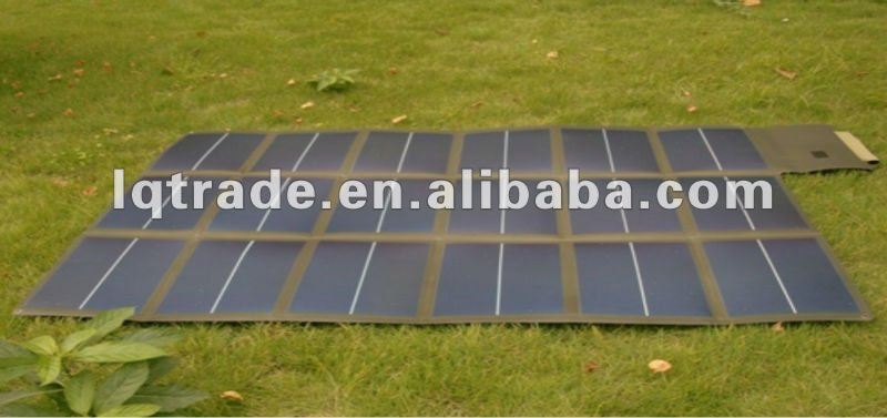 100W folding solar laptop charger bag flexible solar charger