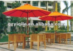 Ombrello di legno esterno del giardino della mobilia